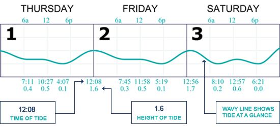 Standard Tide Calendar For Individuals Tidelines Tide Calendars